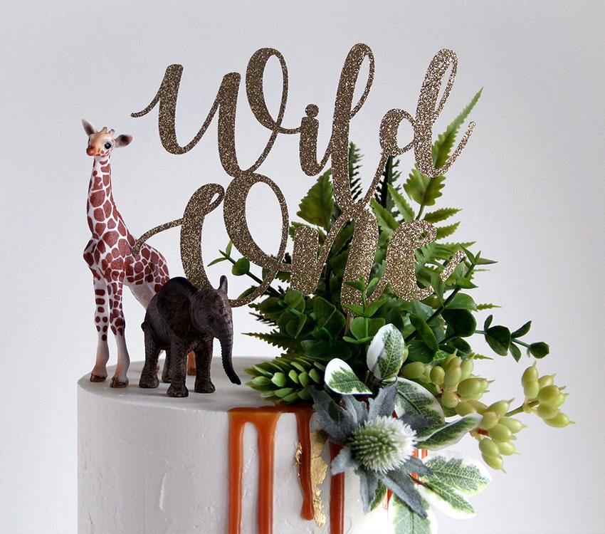 2 Tier Wild One 1st Birthday Cake Details