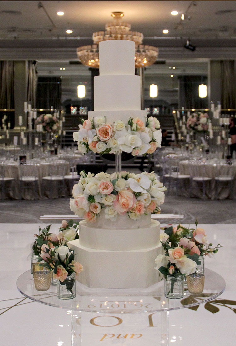 6 Tier Luxury Pastel Floating Wedding Cake